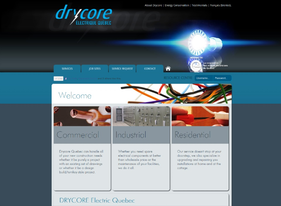 DRYCORE Quebec's site now is live!